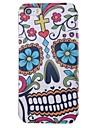 des fleurs et des crânes motif pu pleine cas de corps avec fente pour carte pour l'iPhone 5 / 5s