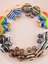brincos de 8 cores dupla face brincos de pérola stripe para as mulheres