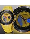 OHSEN Masculino Relogio Esportivo Quartzo LED Calendario Cronografo Impermeavel Silicone Banda Preta Branco Azul Vermelho AmareloBranco