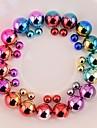 brincos coloridos dupla pérola enfrentou brinco lateral dobro brinco dois sentidos desgaste 9 cores brincos de pérolas para as mulheres