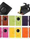 Housse en cuir veritable support flip pour Nokia Lumia 1020 (couleurs assorties)
