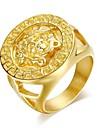 Super Man Domineering 24K Gold Men's Ring