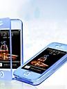 Para Capinha iPhone 5 Flip / Transparente Capinha Corpo Inteiro Capinha Cor Única Macia TPU iPhone SE/5s/5