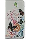 Для Кейс для Nokia Кошелек / Бумажник для карт / со стендом Кейс для Чехол Кейс для Бабочка Твердый Искусственная кожа NokiaNokia Lumia