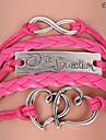 bracelets eruner®leather coeur en alliage multicouche et charmes infinis bracelet en main