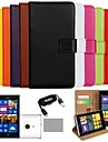COCO FUN® Luxury Solid Color Genuine Leather Case with Film, Cable and Stylus for Nokia Lumia 925(Assorted Colors)