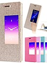For Huawei Case with Stand / with Windows / Flip Case Full Body Case Solid Color Hard PU Leather Huawei Huawei P7