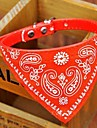 Dog Collar Collar Bandana Adjustable / Retractable Bandanas PU Leather Black Red Blue Pink
