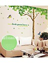 Landscape Christmas Decorations Florals Botanical Cartoon Wall Stickers Plane Wall Stickers Decorative Wall Stickers, PVC Home Decoration
