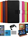COCO FUN® Luxury Solid Color Genuine Leather Case with Film, Cable and Stylus for Nokia Lumia 920(Assorted Colors)