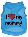 Chat Chien Tee-shirt Vetements pour Chien Coeur Lettre et chiffre Bleu Terylene Costume Pour les animaux domestiques