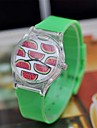 Women's Fashion Watch Quartz Japanese Quartz Plastic Band Green Brand