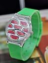 Mulheres Relógio de Moda Quartzo Quartzo Japonês Plastic Banda Verde marca