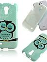 용 삼성 갤럭시 케이스 패턴 케이스 뒷면 커버 케이스 부엉이 TPU Samsung S4 Mini