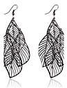 Earring Leaf Drop Earrings Jewelry Women Party / Daily / Casual Alloy 1 pair Black