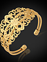 U7® Vintage Bracelets For Women 18K Chunky Gold Filled Gold Plated Cuff Bangle Jewelry Christmas Gifts