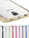 Mobile Samsung - Couleur unie - Etui antichocs - pour Samsung S5 I9600 (Noir/Rouge/Vert/Bleu/Incarnadin/Violet/Rose/Or/Argent/Bleu clair , Métal)
