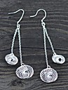 Special Silver 925 Drop Earrings Shaped of Double Knitted Balls 1 Pair