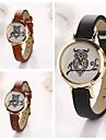 quartz chouette cadran rond en cuir de montres-bracelets des femmes (couleurs assorties) c&d127