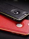 Для Кейс для iPhone 6 / Кейс для iPhone 6 Plus Ультратонкий Кейс для Задняя крышка Кейс для Один цвет Твердый Натуральная кожаiPhone 6s