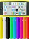 Design Especial - iPhone 5C - Cobertura de Trás (Vermelho/Preto/Branco/Verde/Azul/Rosa/Amarelo/Roxo/Laranja , Silicone)