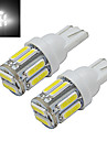 1W T10 Decoration Light 10 SMD 7020 100-150 lm Cold White 6000-6500 K DC 12 V
