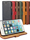 Bark Grain Genuine Leather Full Body Cover with Stand and Case for iPhone 6