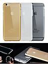 For iPhone 6 Case / iPhone 6 Plus Case Transparent Case Back Cover Case Solid Color Soft TPU iPhone 6s Plus/6 Plus / iPhone 6s/6