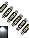 60-70 lm Festoon Luz de Decoracao 3 leds SMD 5050 Branco Frio DC 12V