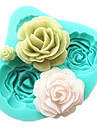 4 Roses Silicone Cake Mold Baking Tools Kitchen Accessories Fondant Chocolate Mould Sugarcraft Decoration Tools