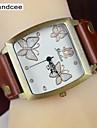 Handcee® Watch Women\'s PU Quartz Wrist Watch Butterfly Decoration Elegance Simple Design Watch