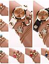 Women's  Circle  Dial Diamate Heart  Band Quartz Analog Fashion Bracelet Watch (Assorted Color)C&D291 Cool Watches Unique Watches