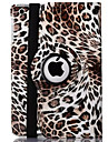 Case For iPad 4/3/2 with Stand Auto Sleep / Wake Origami 360° Rotation Full Body Cases Leopard Print PU Leather for iPad 4/3/2