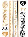 1 pcs väliaikaiset tatuoinnit Havaijilainen Paperi Tatuointitarrat / Kuvio / Hawaiian / Alaselkä