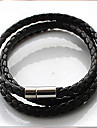 Men\'s Wrap Bracelet Basic Plaited Fashion Leather Jewelry Jewelry Daily Casual Sports Costume Jewelry White Black Coffee