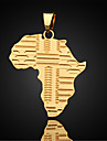 Men\'s Figaro Chain Pendant Necklace / Pendant - Gold Plated Maps Necklace For Daily, Casual, Sports