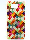 For Samsung Galaxy Case Pattern Case Back Cover Case Geometric Pattern TPU Samsung Alpha