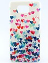 For Samsung Galaxy Case Pattern Case Back Cover Case Heart TPU Samsung Alpha