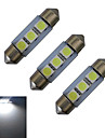 1W Festoon Decoration Light 3 SMD 5050 60lm Cold White 6000-6500K DC 12V