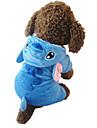 Кошка Собака Костюмы Толстовки Пижамы Одежда для собак Очаровательный Косплей Мультфильмы Синий