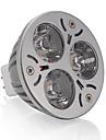 250 lm GU5.3(MR16) Точечное LED освещение MR16 3 светодиоды Высокомощный LED Тёплый белый DC 12V