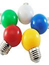 5 unids coloreado e27 1w ahorro de energia 6 bombillas led lampara globo diy blanco verde amarillo azul rojo color brillante ac220-240v