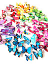 3d pvc simulation colore mur de papillon autocollants 12pcs / set