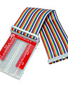 Himbeerkuchen 3 GPIO erweitert DIY-Kit (40p + gpio v2 + 400 Regenbogenlinie Loch Brotbrett)
