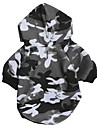 Cat Dog Hoodie Dog Clothes Casual/Daily Fashion Camouflage Gray Costume For Pets