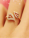 Cubic Zirconia Rhinestone Gold Plated Alloy Leaf - 1pc Leaf Simple Basic Fashion For Date Daily Wear