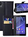 litchi autour parenthese ouverte telephone en cuir carte de portefeuille approprie pour sony xperia z1 (de couleurs assorties)