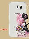 Назначение Кейс для  Samsung Galaxy Чехлы панели Прозрачный Рельефный Задняя крышка Кейс для Соблазнительная девушка Термопластик для