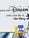 autocolante de perete de perete stil decals dacă puteți visa cuvinte în limba engleză& citate autocolante de perete pvc