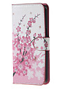 Pour Samsung Galaxy Note Etuis coque Porte Carte Portefeuille Avec Support Clapet Coque Intégrale Coque Fleur Cuir PU pour SamsungNote 5